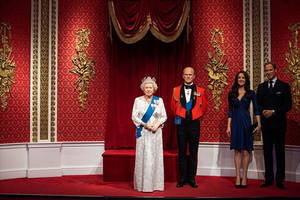 meghan markle, prince harry wax figures removed from madame tussauds royal family exhibit