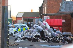 firefighters work through night after suspected arson attack on hosiery factory unit