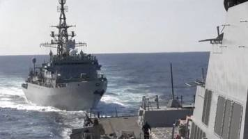 navy says u.s. destroyer 'aggressively approached' by russian warship