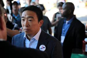 andrew yang won the internet. but can he win a caucus?