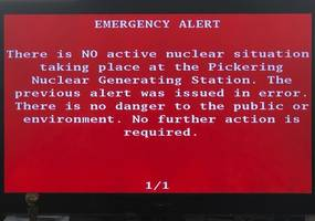 false nuclear 'incident' alert sent out to citizens in ontario in canada