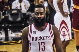 harden passes 20,000 points, rockets beat wolves 139-109