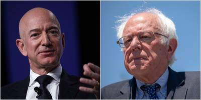 bernie sanders says his smartphone doesn't have any apps, and he doesn't have an amazon prime subscription (amzn)