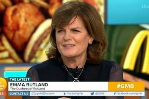 'Snob' Duchess of Rutland sparks GMB row with Piers Morgan by calling for McDonald's to serve pheasant