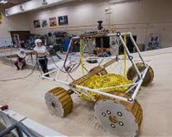 New moon rover tested in Lunar Operations Lab