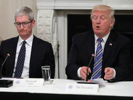 president trump lashes out at apple for refusing to help the fbi unlock a shooter's iphones: 'they will have to step up to the plate and help our great country, now!' (aapl)