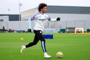 leroy sane steps up injury comeback as man city plan for return next month