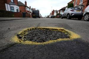 are these some of the worst potholes in nottinghamshire?