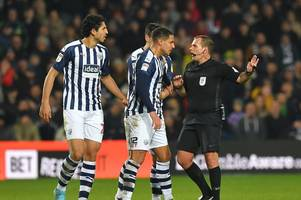 west brom pair at risk of two-match suspension as card count adds up