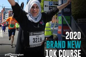 sponsored: new great birmingham 10k run 2020 route revealed with iconic city landmarks - is this the best one yet?