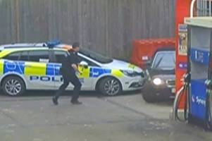 helicopter and dash cam footage captures high speed police chase in copthorne