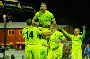 Dorking Wanderers enjoy 'finest hour' as Stockport beaten in FA Trophy