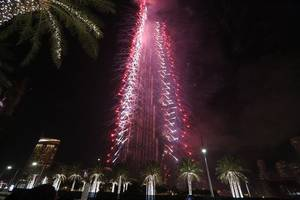 uae: world's tallest tower lights up for fire-stricken australia