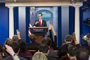 us to maintain tariffs on chinese goods until phase 2 deal: mnuchin