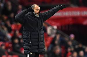 Nuno's blunt Wolves transfer message as Fosun & Mendes watch Man United defeat