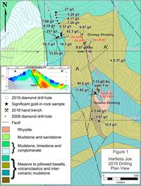 strategic metals announces 2019 drill results, including 3.88 g/t gold over 1.61 metres at hartless joe, yukon