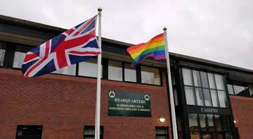 dup councillor shows support for rainbow flag at army's hq