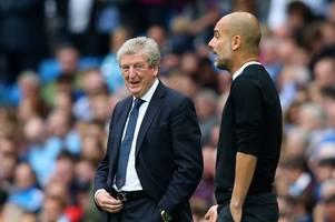 Man City's Pep Guardiola says Roy Hodgson 'must be bored at home' to still be boss at 72