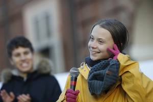 just the beginning: greta thunberg takes switzerland halt before davos