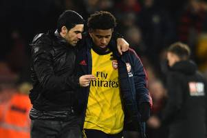 mikel arteta sends message to 'confused' reiss nelson over his direction at arsenal