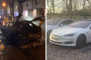 nottingham boss appeals to public after £100,000 company car goes up in flames