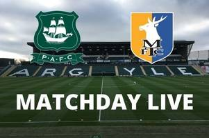 plymouth argyle vs mansfield live: ryan lowe's pilgrims in league two action
