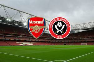 arsenal vs sheffield united live: kick off time, predicted line ups, team news and latest score