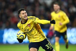 confirmed arsenal xi vs sheffield united: martinelli replaces aubameyang as nketiah makes squad