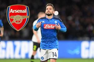 dries mertens to arsenal latest: raul sanllehi makes approach, free transfer, player's stance