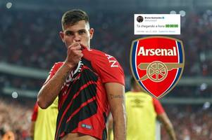 'edu masterclass' - arsenal fans get excited after bruno guimaraes' cryptic post on social media