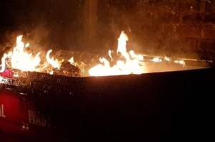 fire in hotel car park causes smell of plastic to fill the air