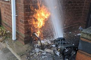Home evacuated as firefighters tackle gas flames