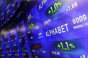 alphabet's soaring stock just pushed it above a $1 trillion market cap. here are the 11 highest-valued public companies.