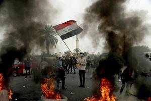 deadly clashes in iraq as protest movement revives in baghdad and najaf