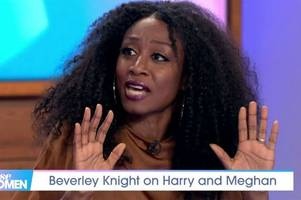 beverley knight's emotional loose women speech over meghan markle and prince harry crisis