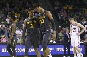 teague, mitchell lead no. 1 baylor past oklahoma, 61-57