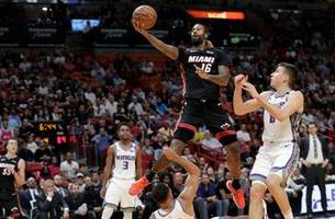 James Johnson steps in with 22 points as Heat rally past Kings for OT win