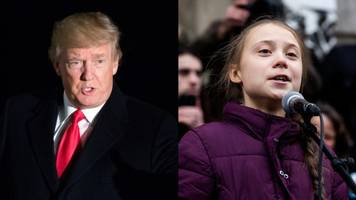 trump and thunberg address climate change at davos forum