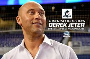 marlins ceo derek jeter comes within one vote of being unanimous hall of fame pick
