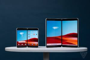 this is microsoft's vision for dual-screen apps on windows 10x and android