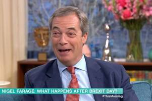 holly willoughby and phillip schofield blasted by this morning viewers over nigel farage 'banter'