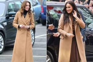 Kate Middleton copies Meghan Markle's coat after Birmingham visit amid royal crisis