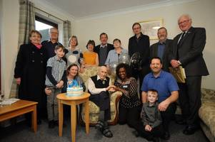 castle douglas world war two veteran celebrates 100th birthday with family in palnackie
