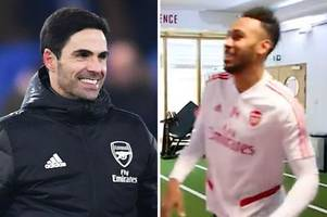 Arsenal fans think they spot Pierre-Emerick Aubameyang transfer 'clue' in gym clip