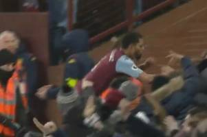 'Squashed' - Why Aston Villa maverick Douglas Luiz leapt into the Holte End