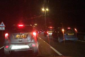 live a12 traffic: two-vehicle crash causes six-mile queues near kelvedon