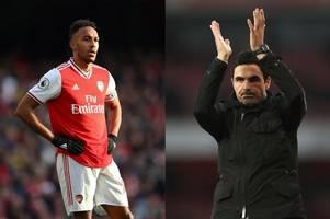 Mikel Arteta's stance on Pierre-Emerick Aubameyang's Arsenal future amid shock Barcelona links