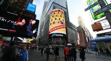 chacha sends chinese new year greetings at new york's times square