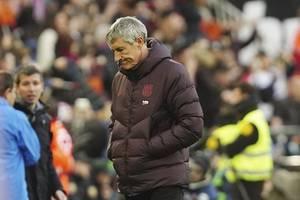 valencia 2-0 barcelona: inspirational gomez sinks setien's side despite penalty miss