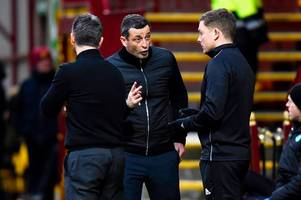 jack ross makes dissent quip as hibs boss is left baffled by booking